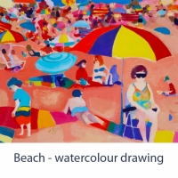 beach wc drawing