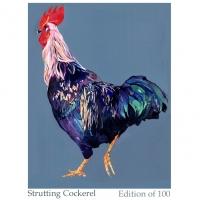 Strutting cockerel