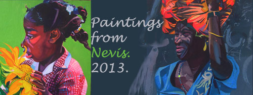 paintings from nevis 2013