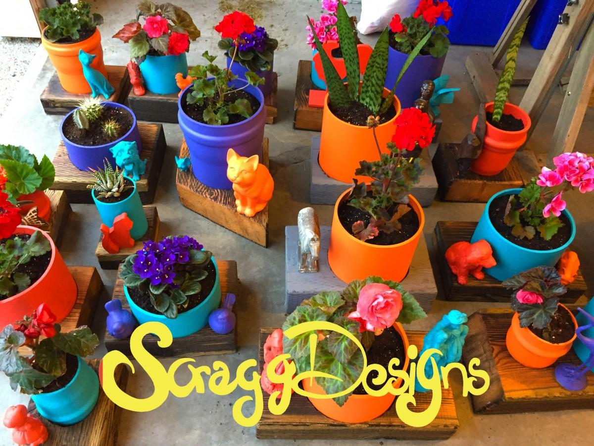 pots colour