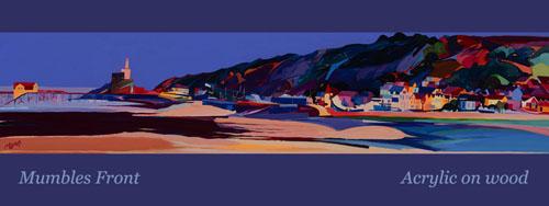 series of three mumbles paintings blog