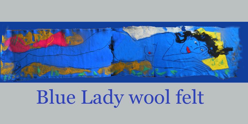 2.5 Meters Long  - Blue Lady non woven felt