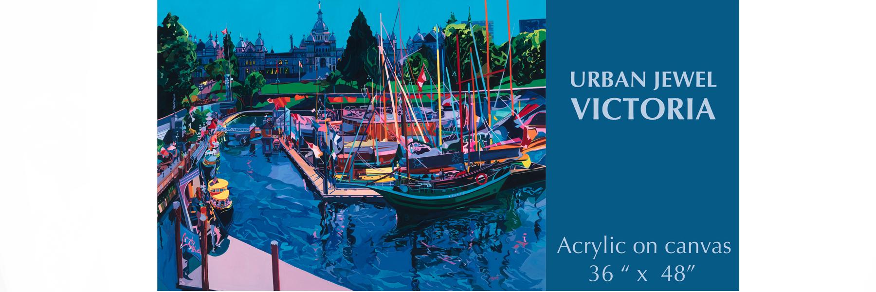 Blue Victoria Canvas