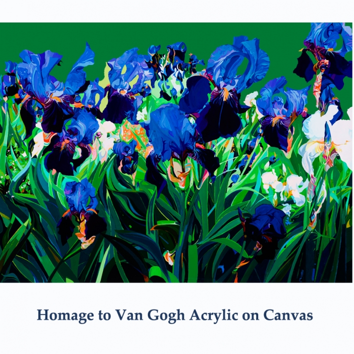 Homage to Van Gogh irises Canvas