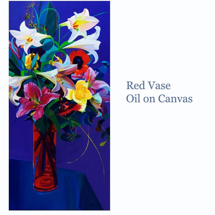 red vase oil