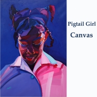 pigtail girl canvas