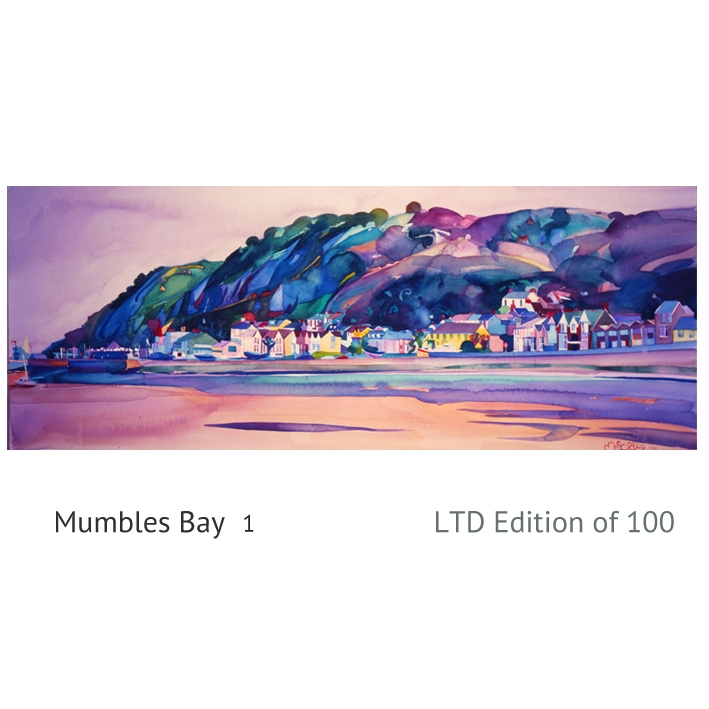 Mumbles Bay 1 watercolour
