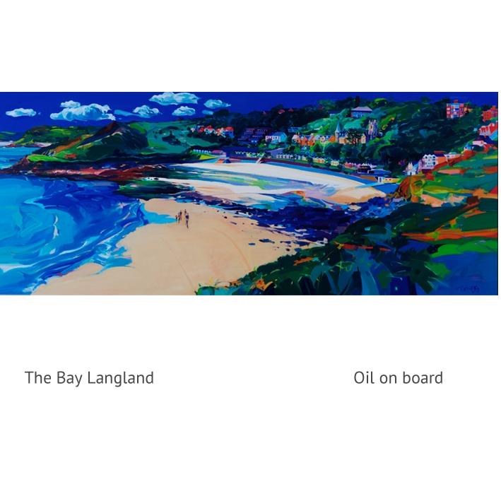langland Bay oil jpg