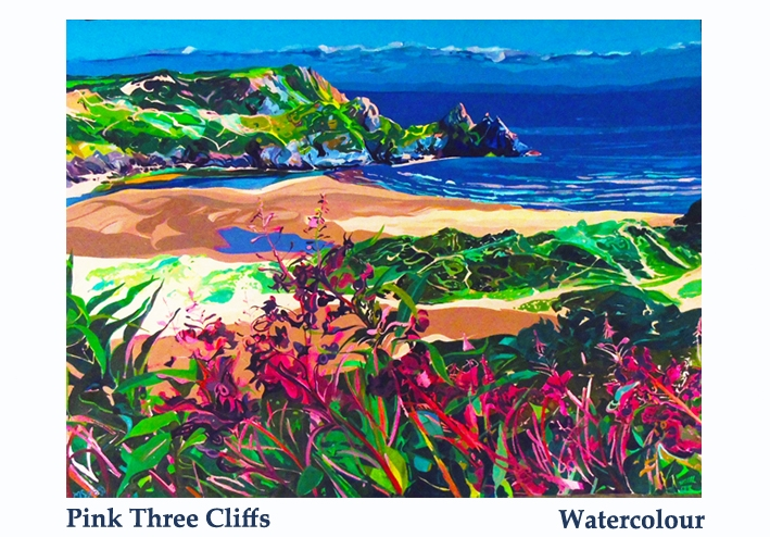 pink three cliffs