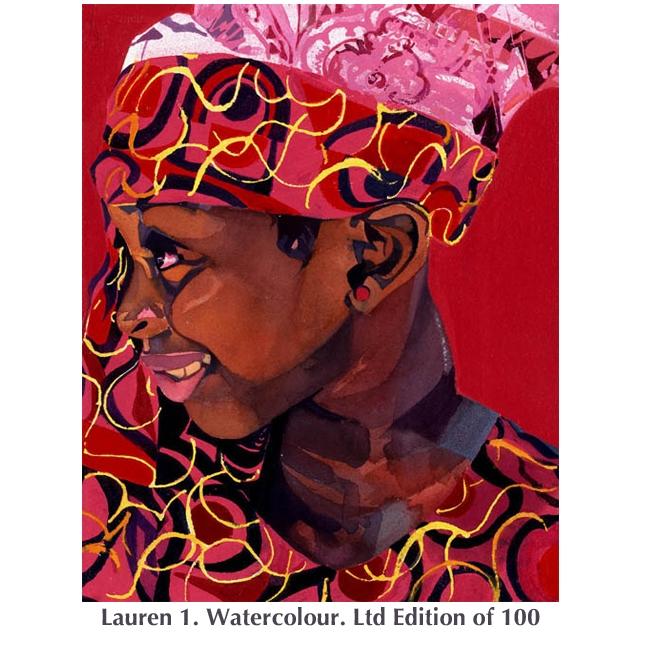 Lauren 1 watercolour