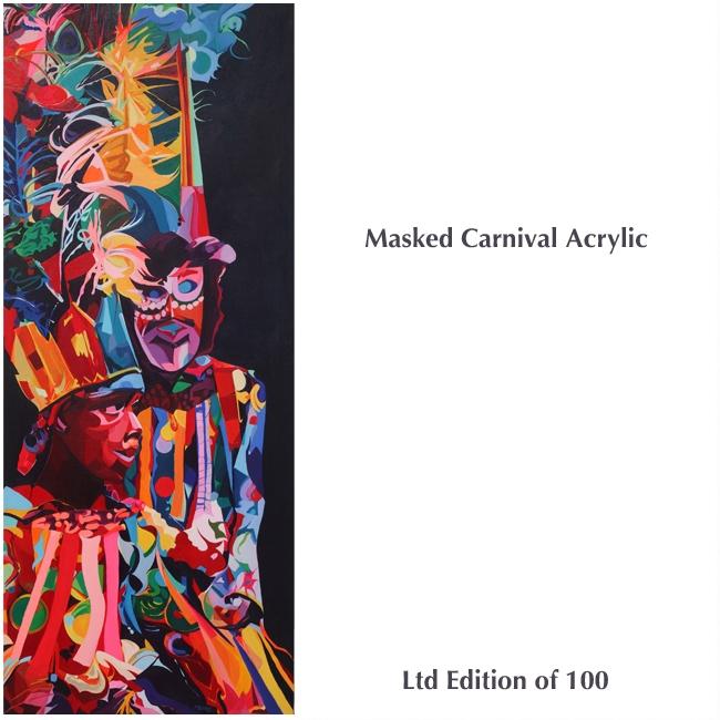 masked Carnival Acrylic