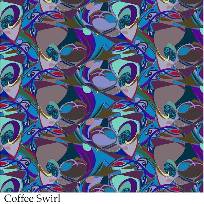 Coffe Swirl Fabric