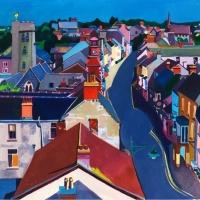 Pembroke Town. Watercolour
