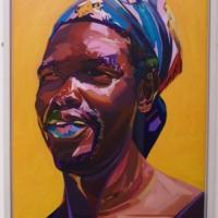 West Indian Man Junie canvas framed