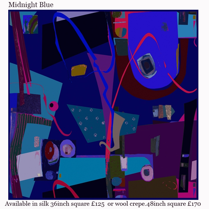 midnight blue silk scarf