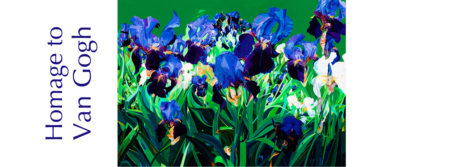 Irises Acrylic on  canvas 95cm x 70cm