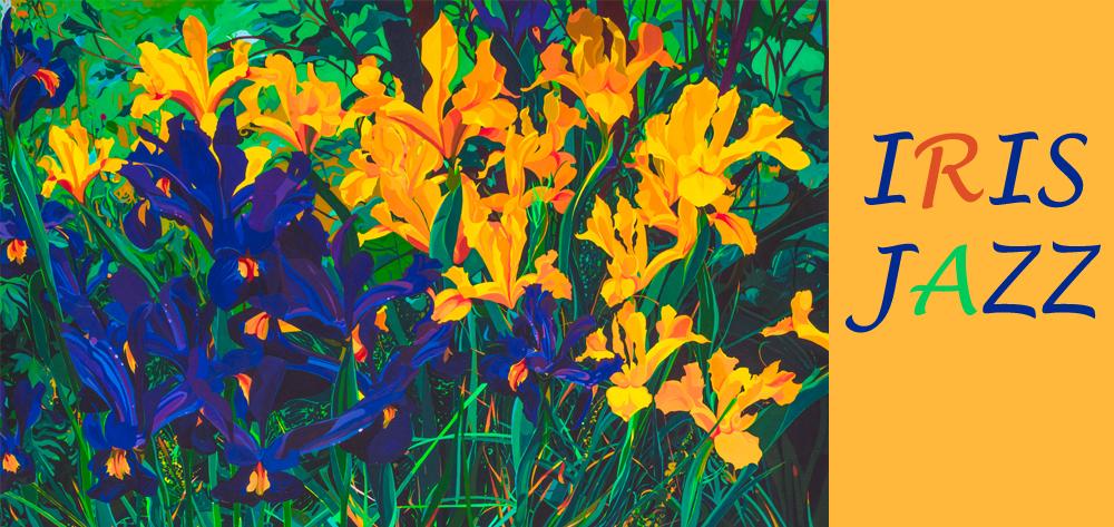 Acrylic on Canvas Iris Jazz