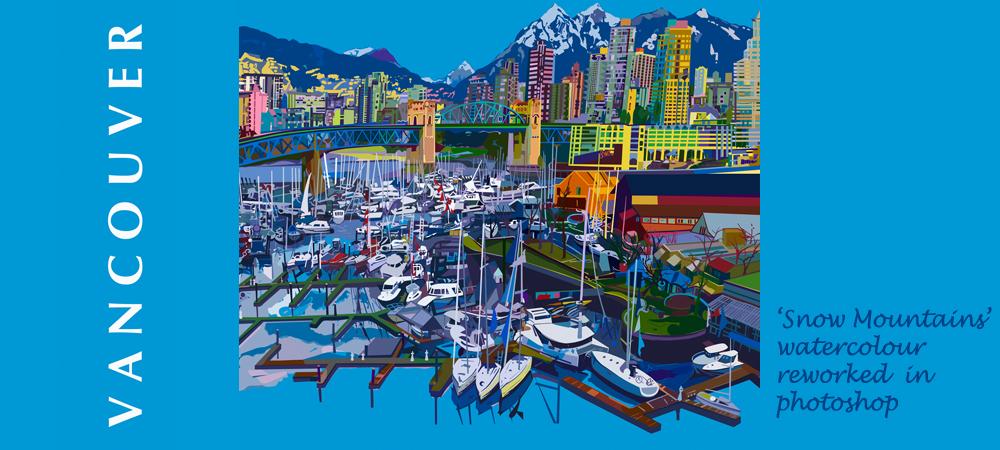 Snow Mountains Vancouver Canada